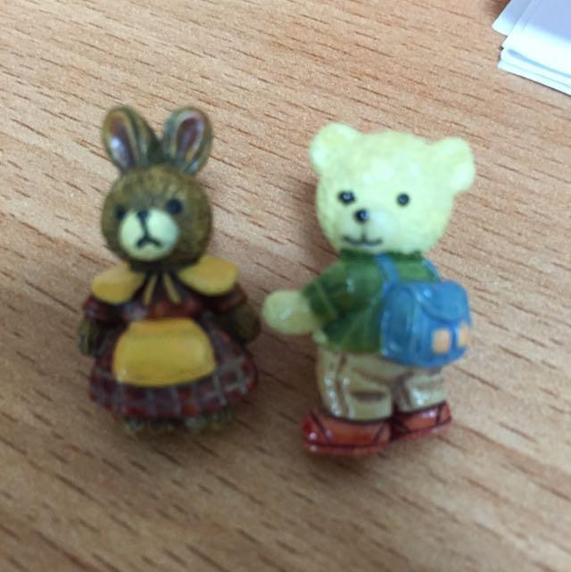 小熊 兔媽媽耳環