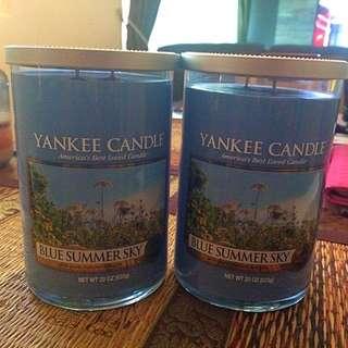 BN Double Wick Yankee Candles 22oz Jar X 2