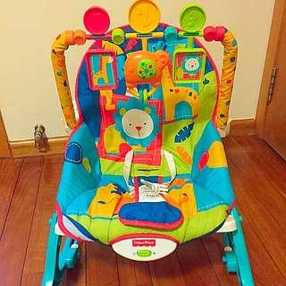 Fisher Price Infant To Toddler Bouncer/Rocker, Dark Safari
