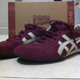 Onitsuka Tiger Maroon Mexico 66 DX LEA