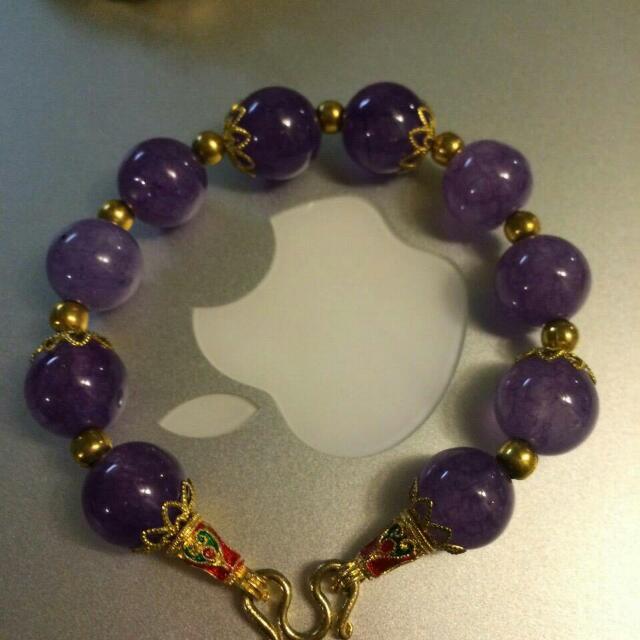 全新紫水晶手鍊 泰國帶回