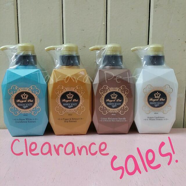 CLEARANCE SALES! Royal Pet Premium Quality Pet/dog/ Cat Shampoo N  Conditioner