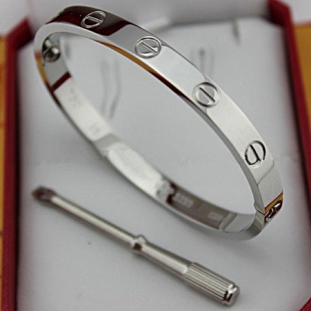 Used Cartier Love Bangle Titanium New Version Free Shipping Silver