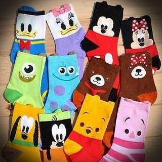 迪士尼人物一雙兩圖襪