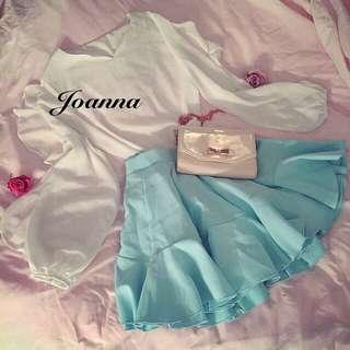 水藍公主風短裙