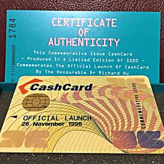 Singapore First Limited Edition Cash Card Year 1996