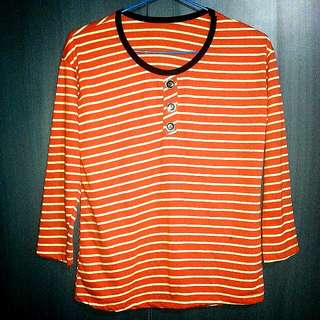 BN Korea Orange Stripes Tee