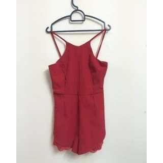 Red Tulip Jumpsuit