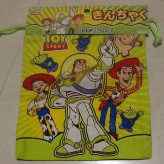 BUZZ LIGHTYEAR DRAWSTRING POUCH FROM JAPAN