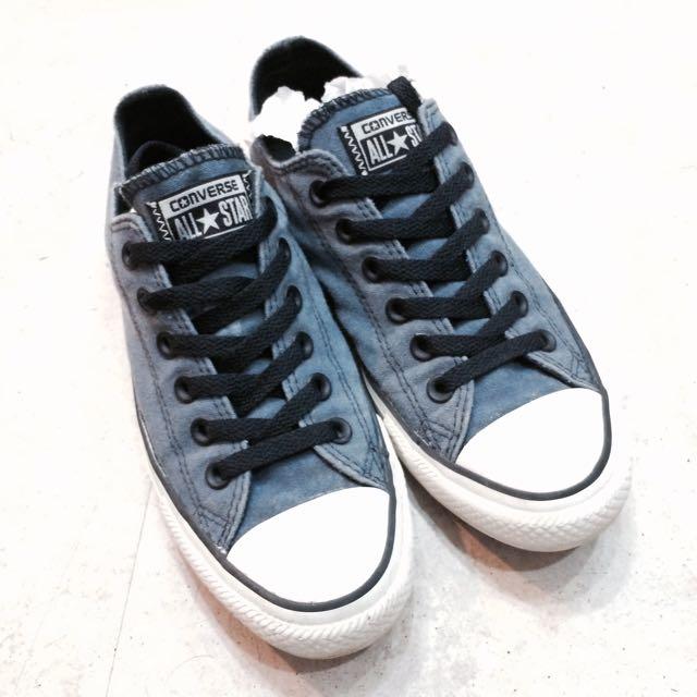九成新 Converse 水洗牛仔帆布鞋