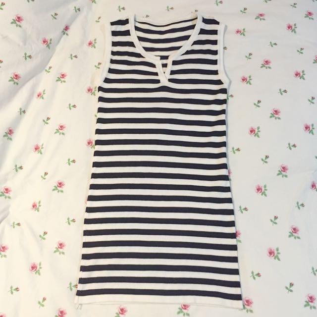 Sleeveless Stripe Dress