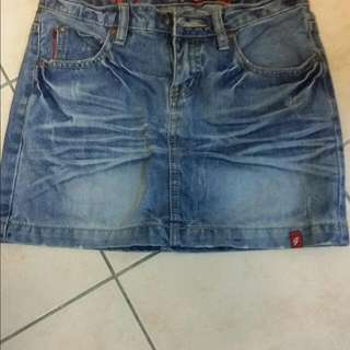 (Preloved)Short Denim Skirt