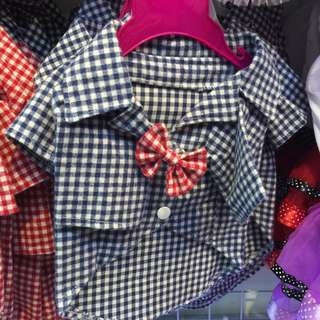 Checkered Bow Tie Shirt