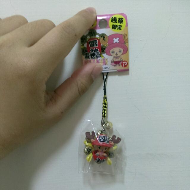 日本帶回海賊王雷神喬巴淺草限定手機吊飾