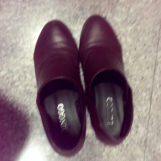 復古微跟鞋