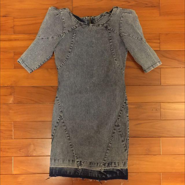 韓版時尚牛仔洋裝