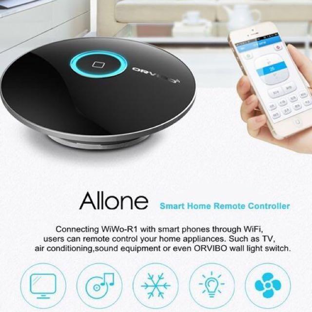 Orvibo Allone Wifi Universal Remote Control, Electronics on