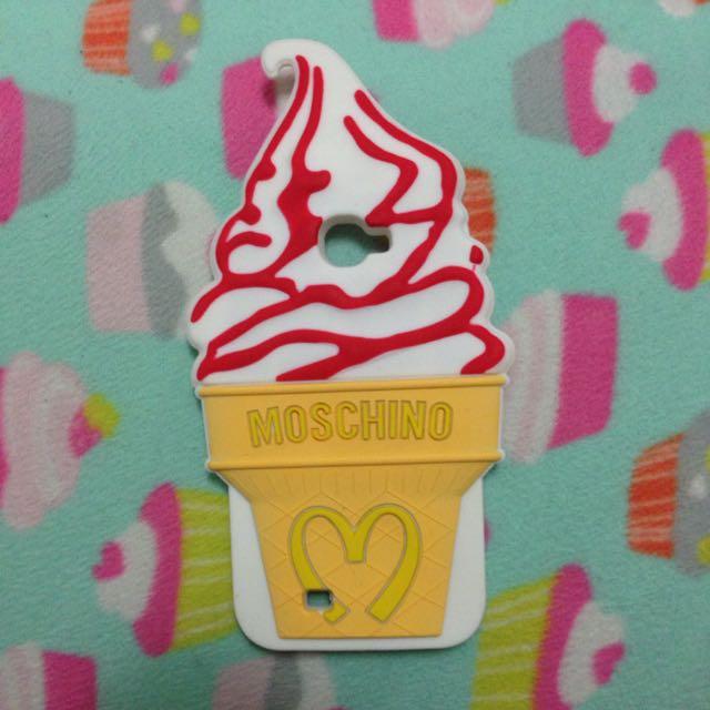 三星Samsung Note2手機殼 MOSCHINO款冰淇淋