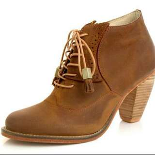 J Shoes Leather Sidesaddle (Mid Brown)