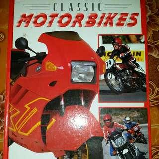 Vintage Classic Motorbikes Colorfull Books