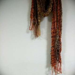 日本大地色系造型圍巾