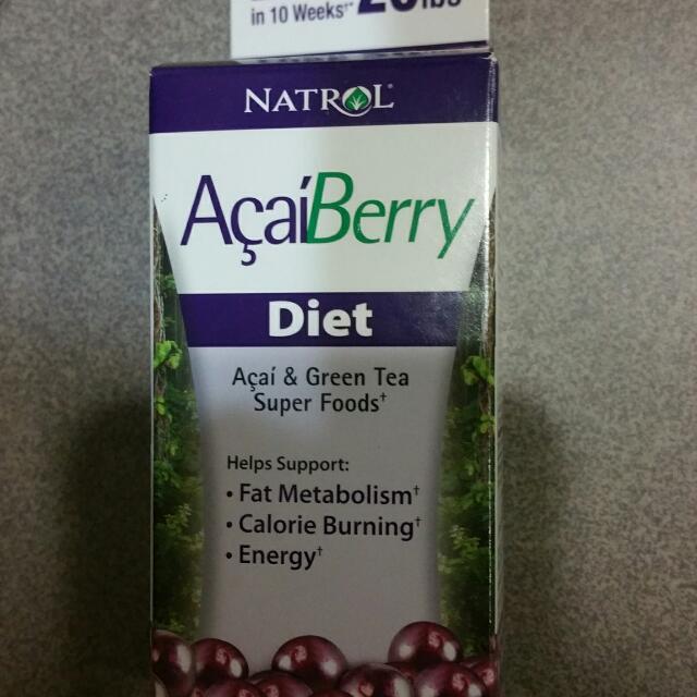 Bnip Acai Berry Diet Pills X 3 Each Bottle 9 00