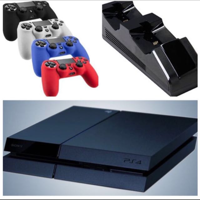 BUNDLE: SONY PS4 500GB + 2 CONTROLLERS + 3GAMES ($650) add $120 EXTRA 2 Controllers + CHARGING DOCK
