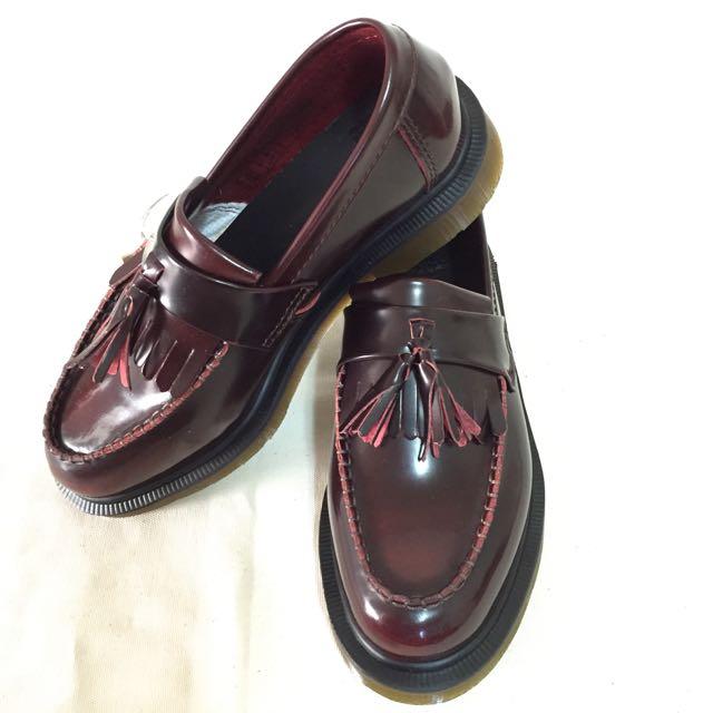 Dr.martens 流蘇 酒紅色 漸變 馬丁 馬汀 靴子 鞋子