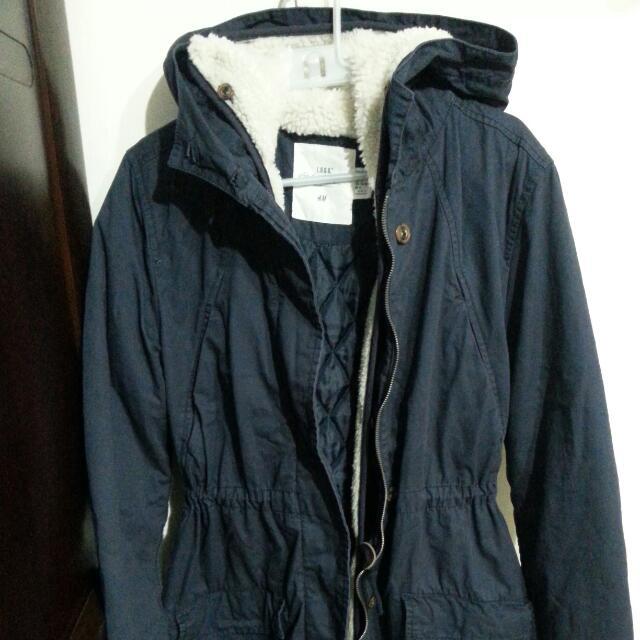 H&M 藍色外套(二手無髒污)