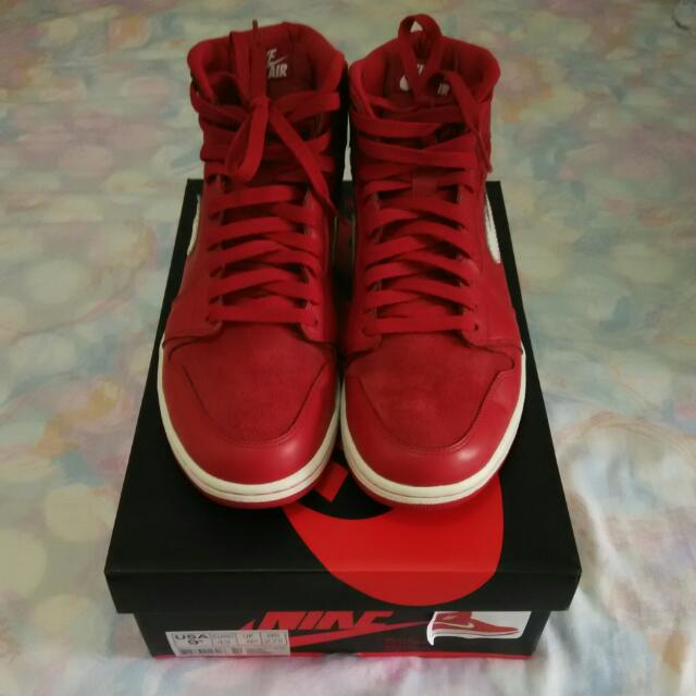 best sneakers f2fef 3f1a9 Nike Air Jordan 1 Retro High OG Gym Red/Sail, Sports on Carousell
