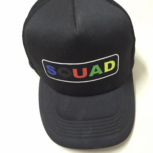 正版SQUAD黑色網帽