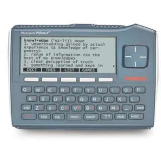 Looking For: Franklin Merriam-Webster English Electronic Dictionary