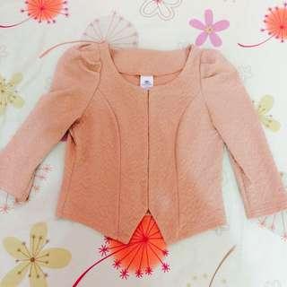 氣質粉色小外套(二手)