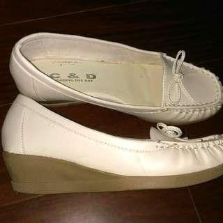 米白 楔形 鞋