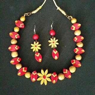 Terracotta Jewelry Necklace