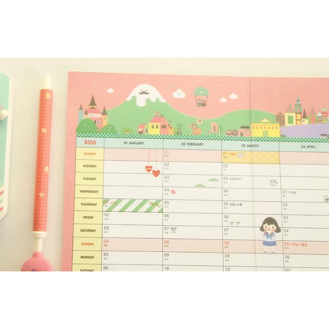 【可愛計畫日程表】韓版創意/2015新款計畫表日程表/日曆日程計畫圖