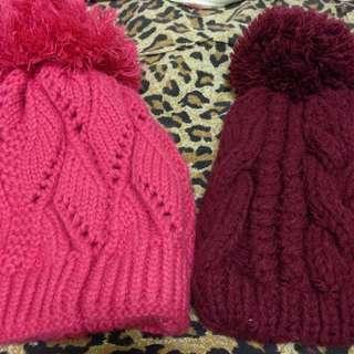 (含運)全新✨粉紅毛帽