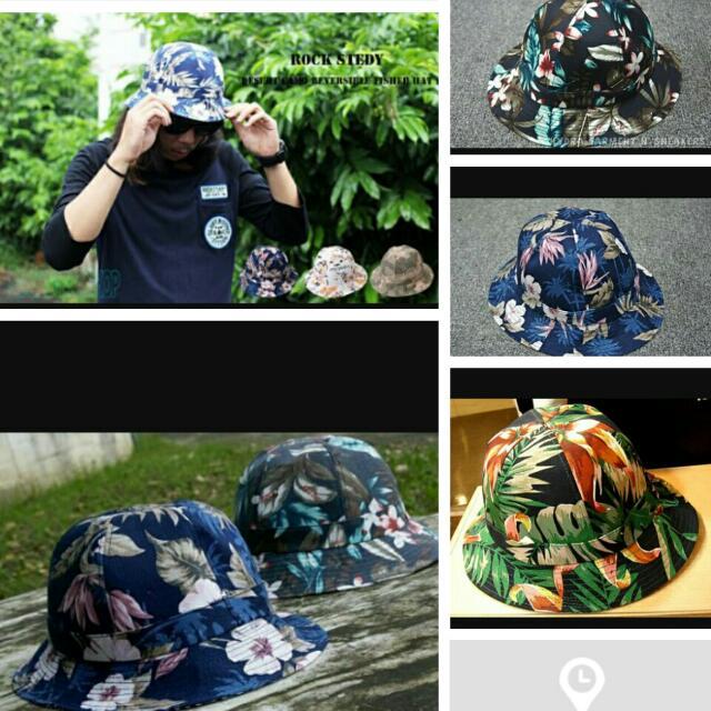 日本帶回。扶桑花魚夫帽。超硬廷
