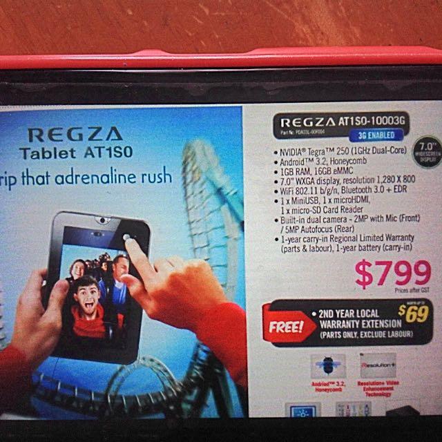 Sale 💯 !!! Toshiba Regza Tablet, Luxury on Carousell