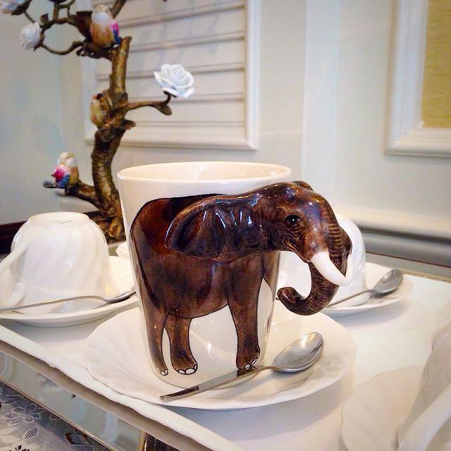 🍎NEW⚡️Zoo ❤︎馬克杯兒❤︎(Elephant)