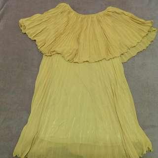 百折雪紡小洋裝