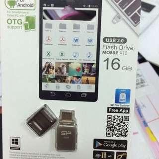 全新✨silicon power OTG 雙向傳輸隨身碟 Mobile X10