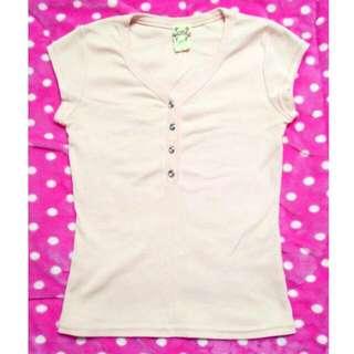 粉色系氣質棉上衣