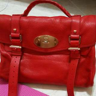 **Reserved** Authentic Mulberry Valentines Alexa Glossy Goat