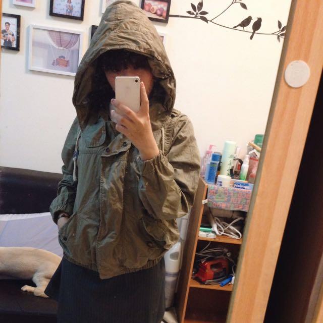 日本品牌2% 春秋可穿軍綠色軍外套