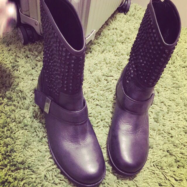 ALDO黑色卯釘靴