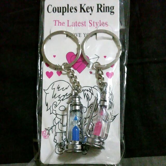 Couple Hourglass Keychain