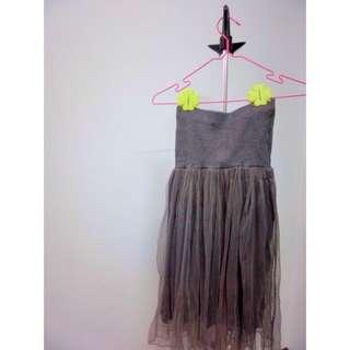 典雅灰色紗裙