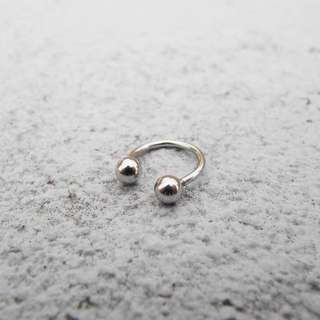 全新耳環 「圈環1.2cm」 醫療鋼(黑、銀2色)