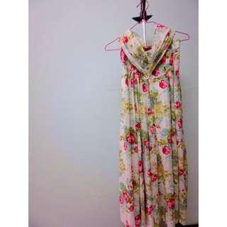 夏季熱帶風長裙